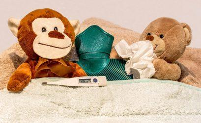 Vid vanliga vintersjukdomar kan man lätt få feber